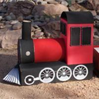 Cardboard train , Kids craft