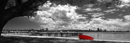 Red Boat by David Rennie available via http://www.art-australia.com/red-boat-by-david-rennie/