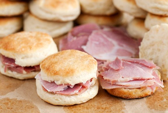 Overall, the biscuit is more tender with a hint of sweetness that pairs better with The Ham. It is a cross between a soft dinner roll and a traditional buttermilk biscuit. These aren't the silver dollar biscuits, but they are quite close and I'm satisfied with that. Now I just need to secure a steady supply of Virginia ham!