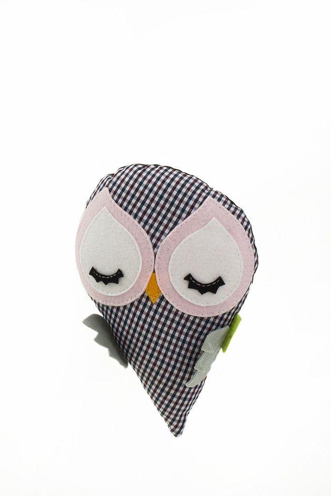 Little Canary Pillow Pink Grey   Length 20cm, Width 20cm  Shop at pakepake.com