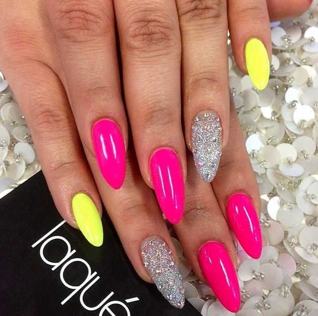 Hot Pink Nail Designs Inspirational 402 Best Nails Images On Pinterest In 2020 Neon Nail Art Designs Pink Nail Designs Neon Nails