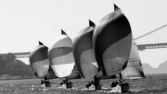 Black and White Sailing Photography