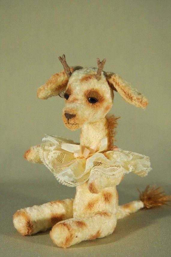 Авторская мягкая игрушка жираф Юля Author Julia by MASTERCKAYKIT
