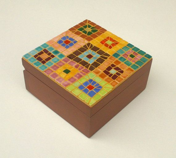 Check out this item in my Etsy shop https://www.etsy.com/listing/210135173/mosaic-jewellery-box-with-abstract