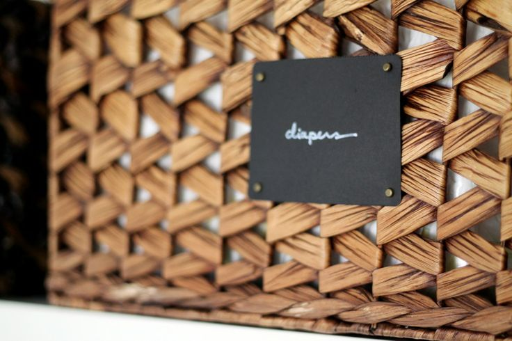 "Easy ""Chalkboard"" Basket Labels"