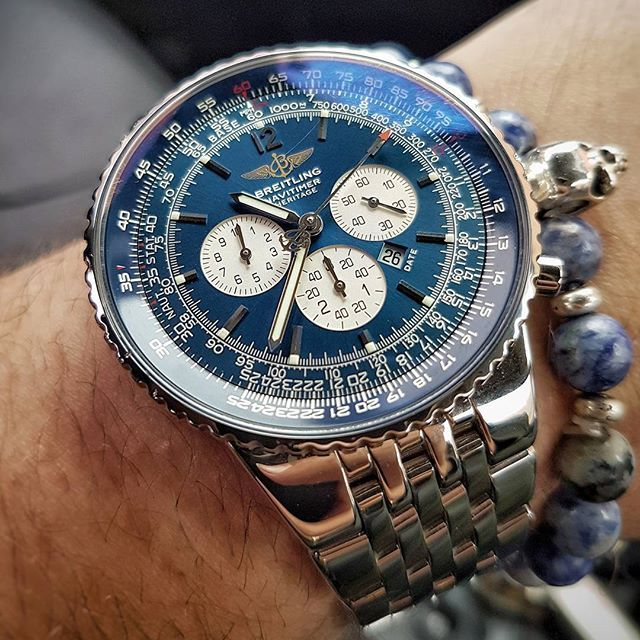REPOST!!!  Never a dull moment with the Navi on the wrist ❤️⌚#breitling #navitimer #heritage #chronometer #limitededition #swissmade #wristgame #watchesofinstagram #watchaddict #watches #watchfreak #instawatch #instagood #watchporn #womw #watchfam #love ❤