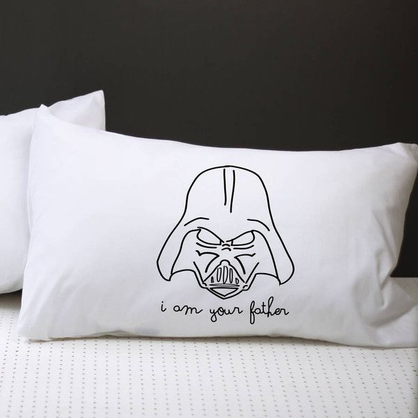 A Piece Of Star Wars I Am Your Father Pillow Case ($23) ❤ liked on Polyvore featuring home, bed & bath, bedding, bed sheets, star wars pillow cases, star wars bedding and star wars pillowcase