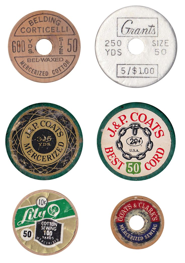 A pin for those of you who, like me, are going to make your own 'vintage' bobbins or cotton reels and would like some labels on either ends of the bobbins/reels.  These will enlarge when you open the page (enlarge with a click) - and you can print them out on whatever type of paper you'd like them on.  (free printable).