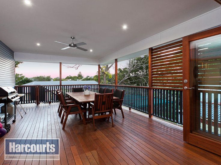 Clean contemporary deck roof with halogens and fan