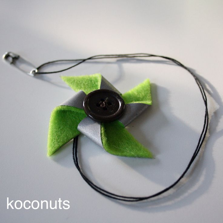 Reflector / pinwheel / felt & button / koconuts