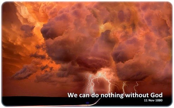 We can do nothing without God