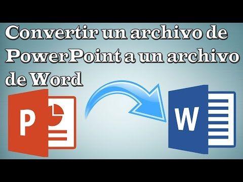 como convertir powerpoint a pdf