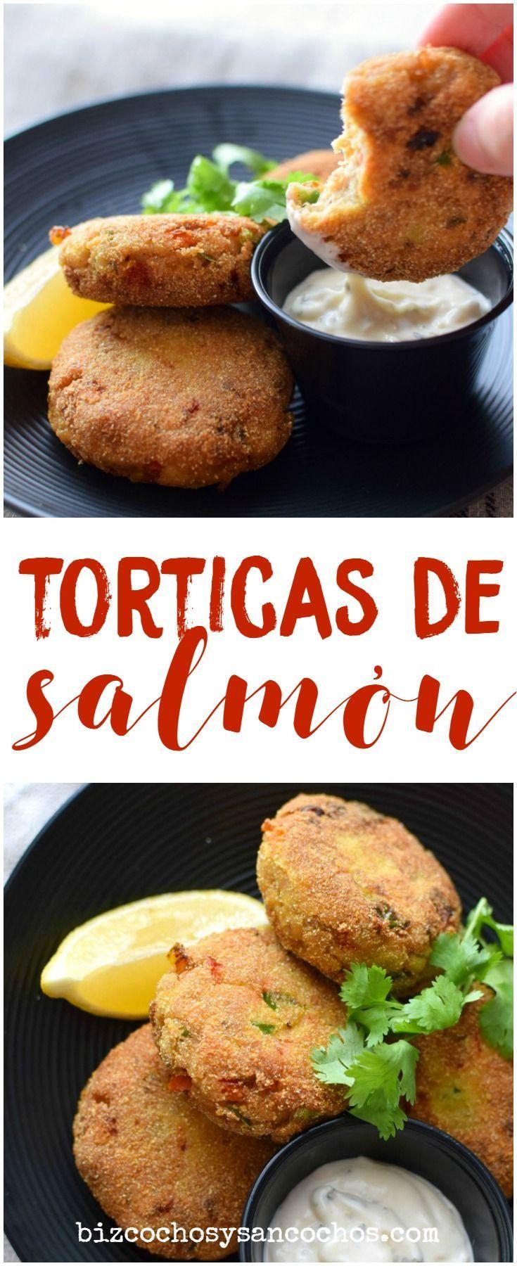 Torticas fáciles de salmón enlatado; fáciles de preparar, muy buena opción para los niños