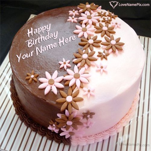 Edit Options Decorated Birthday Cake With Name Photo