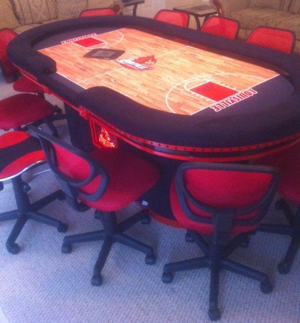 Louisville Cardinals Logo NCAA College Sports Basketball Court Custom Felt