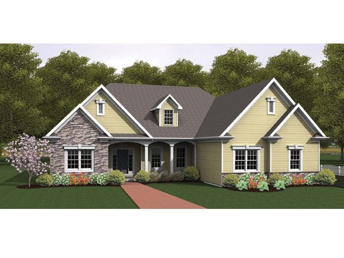 Ranch with dining room 2134 square feet and 3 bedrooms for High ranch house plans