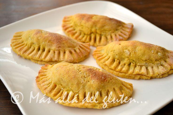 Más allá del gluten...: Empanadas de Papa con Relleno de Verduras (Receta GFCFSF, Vegana)
