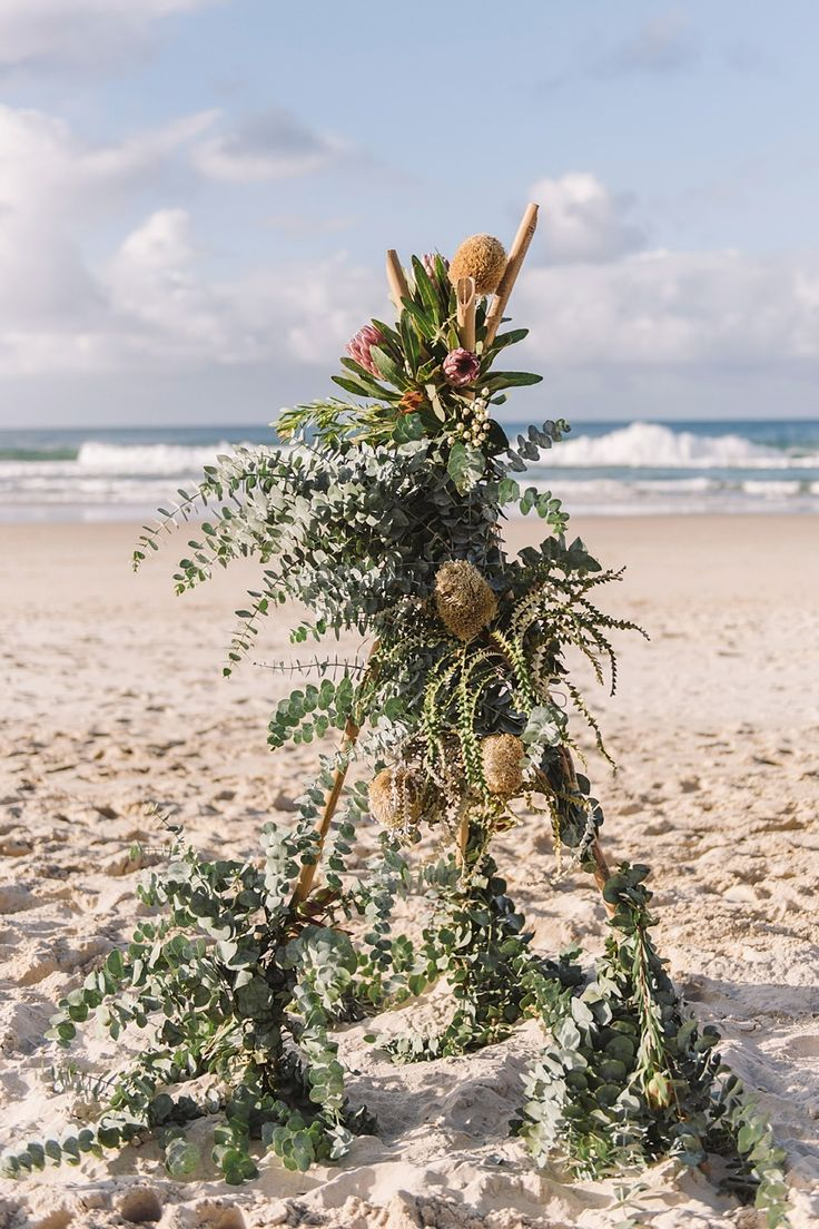 Belongil Beach Byron Bay wedding ceremony