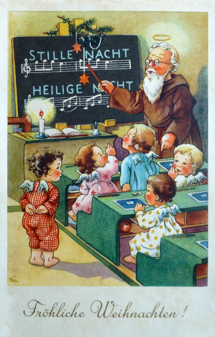Vintage christmas party invitations - Elfriede T Rr Vintage Christmas Postcard