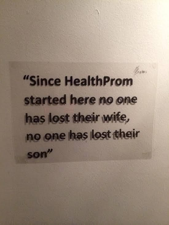 """""""Since HealthProm started here no one has lost their wide, no one has lost their son"""" #Afghanistan"""