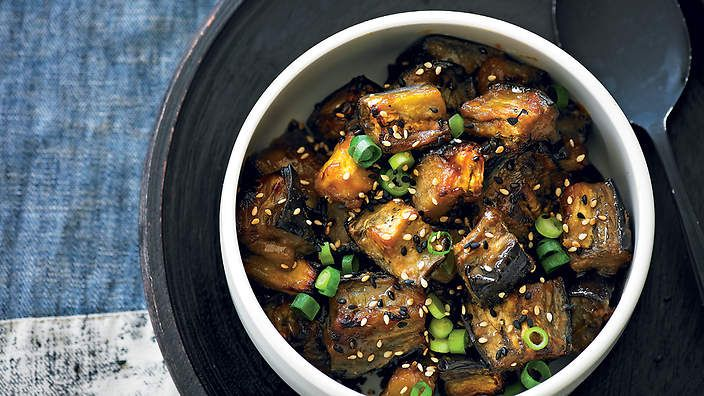 Adam Liaw, of upcoming Destination Flavour Down Under, says miso and eggplant are a killer combo, particularly in this dish, known in Japan as nasu dengaku. The extra roasting of the miso gives a lovely nutty-sweet flavour.