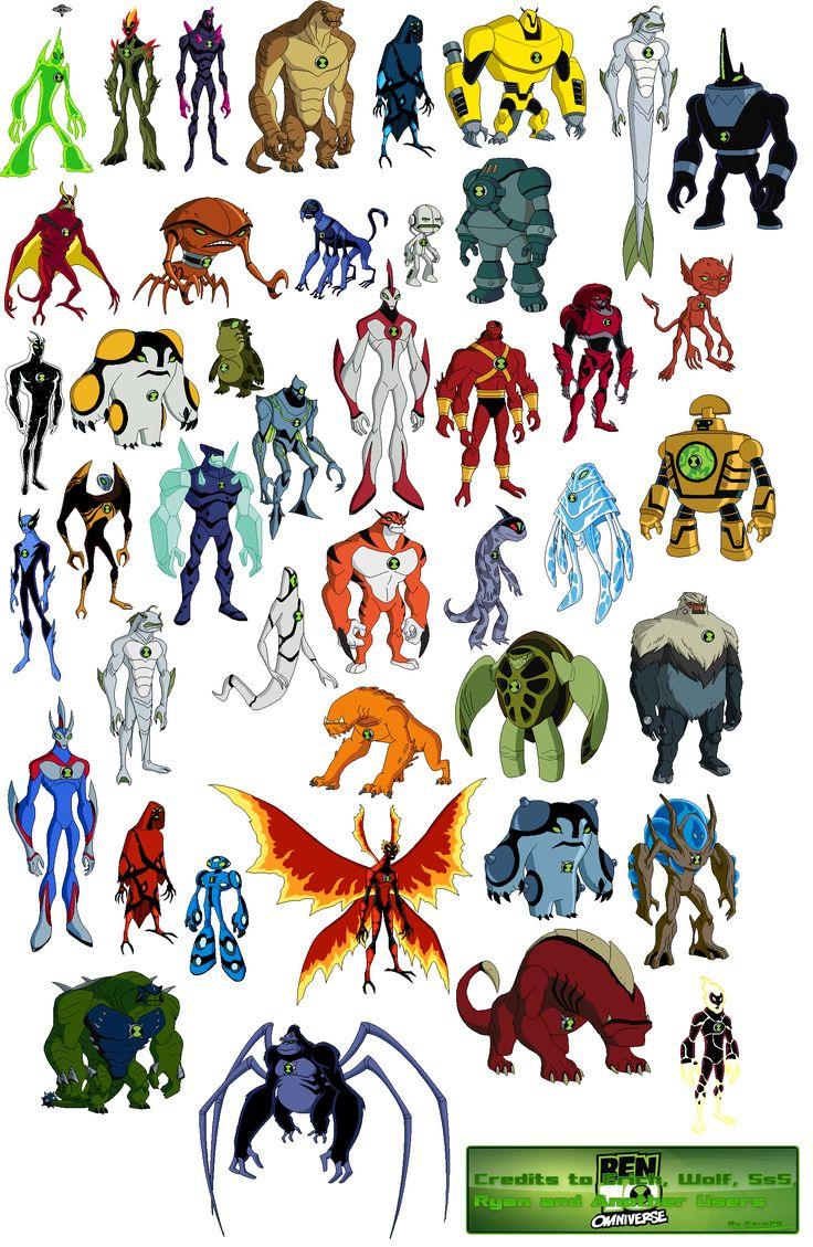 108 best images about ben 10 original force ultimate and omniverse aliens on pinterest - Ben 10 tous les aliens ...