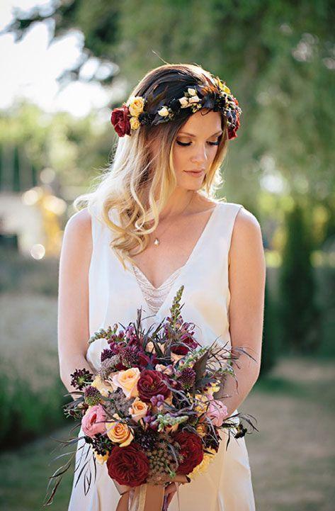 bohemian bride - verbena floral design