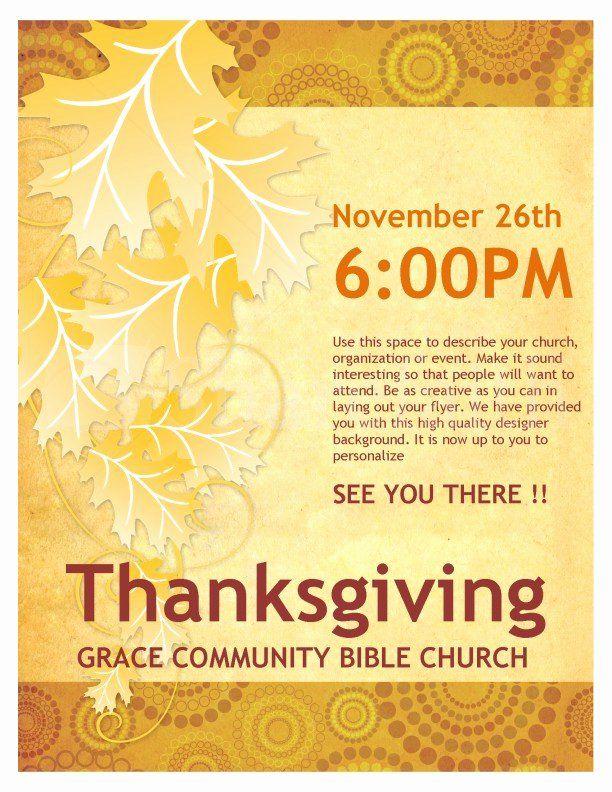 Free Church Flyer Templates Microsoft Word Elegant Thanksgiving