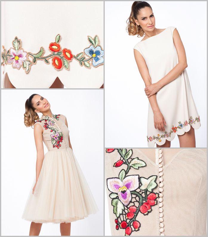 Detalii pretioase pe rochiile #RomanianLabel