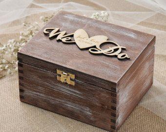 The 25 best ring bearer box ideas on pinterest wedding ring we do wedding ring box rustic ring bearer box custom wood wedding ring bearer junglespirit Images