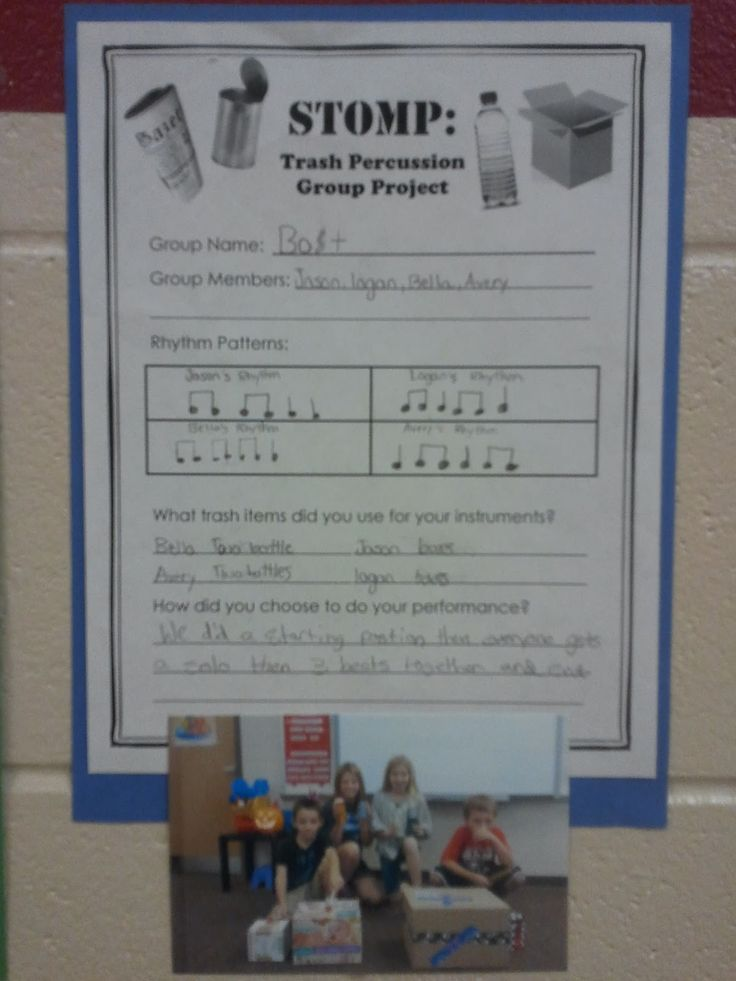 Stomp lesson plan Elementary music 4th/5th grade