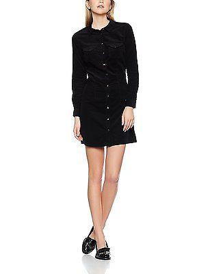 14, Black (Black), Dorothy Perkins Women's Western Shirt Dress NEW