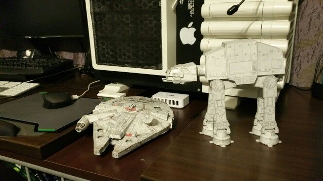 Millenium Falcon and the Walker together ..