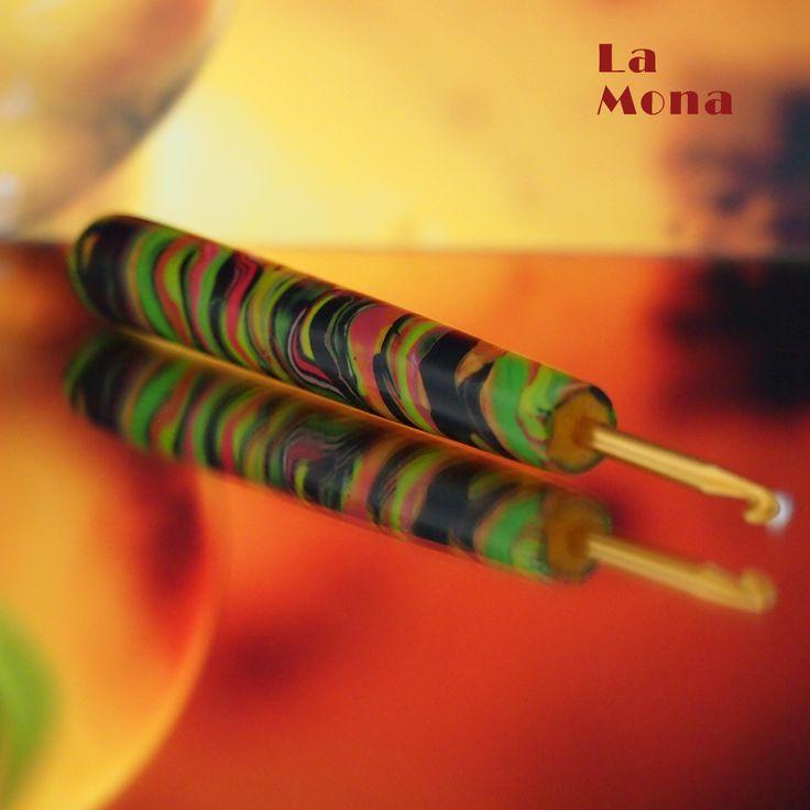 """Háček s """"kouzelnou"""" ručkou LaMona  #hackovani #haceksruckou #lamona #hacekskouzelnouruckou #crochet #hook"""