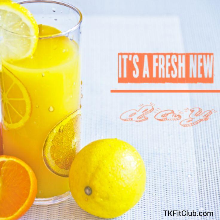 Get up dust off start fresh! #positive #morningquotes #citrus #lemon #orange #freshnewday #newday #TKFitClub