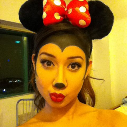 My Minnie Mouse makeup! This Halloween makeup look was a lot of fun to do!  MUA: Carissa Hiquiana (sorry for the photo quality)