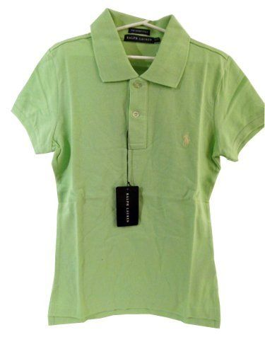 Ralph Lauren Women's Skinny Fit Polo Shirt - Hampton Lime - Small by Polo Ralph Lauren. $49.99. Slim-fitting short-sleeved polo shirt in our breathable and durable cotton mesh. Two-button applied placket, ribbed polo collar and armbands, uneven vented hem.. Save 37%!