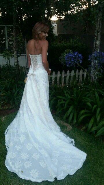 New dress elegant lace up back...love this dress