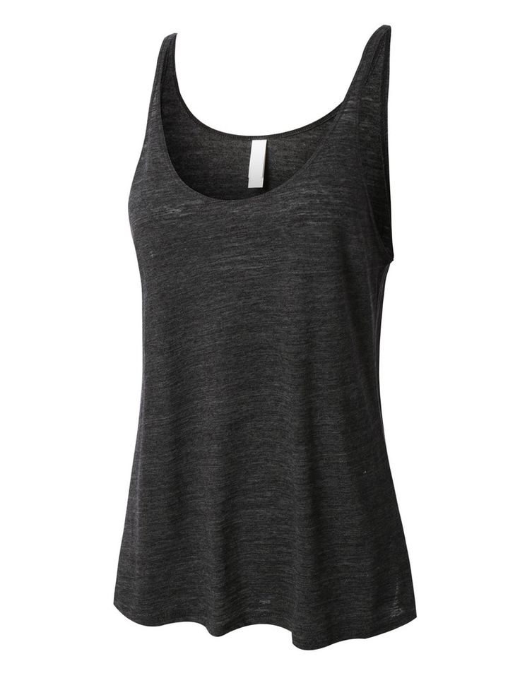 PREMIUM Womens Basic Scoop Neck Loose Fit Tank Top