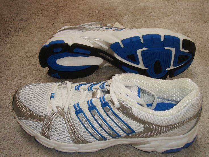 1st Pair: Adidas Uraha 2 Running Shoes White Silver Blue Sneakers