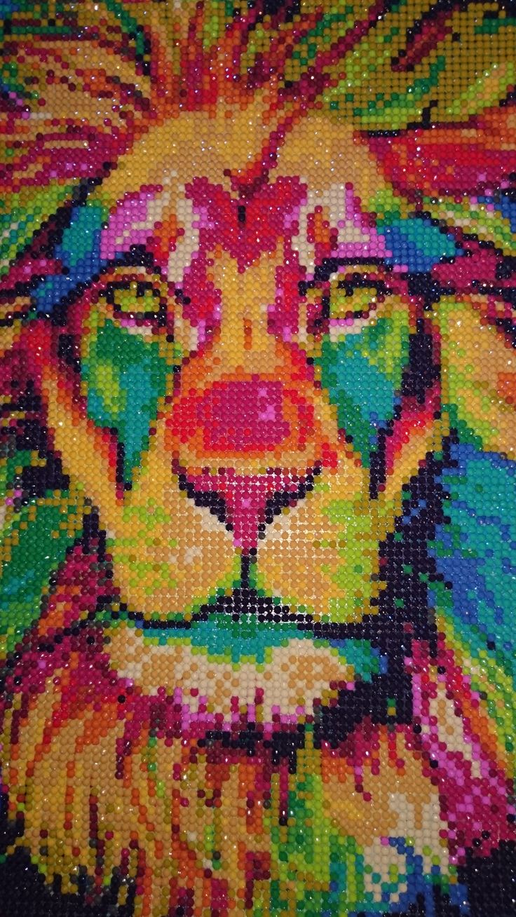 Diamonds Lion, DIY, hand made, Diamonds picture
