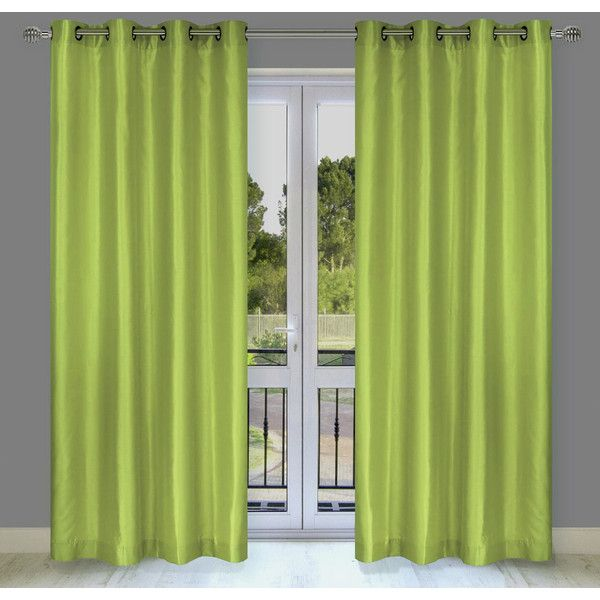 faux silk eyelet curtains silver cream grommet blackout