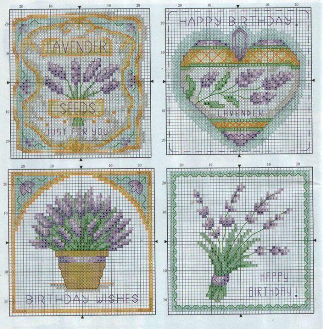 Вдохновляющий фиолетовый: 15 схем вышивки крестиком лаванды - Ярмарка Мастеров - ручная работа, handmade