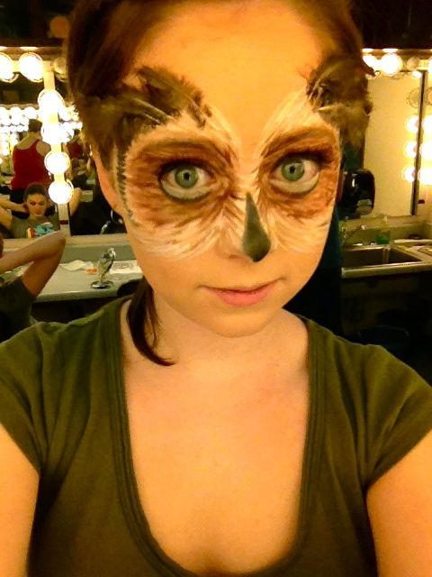 stage makeup fantasy owl cosplay and stage makeup