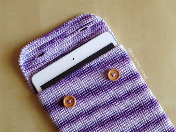 Custodia per ipad mini, realizzata a uncinetto in puro cotone. di GloriaSweetCrochet su Etsy https://www.etsy.com/it/listing/289308479/custodia-per-ipad-mini-realizzata-a
