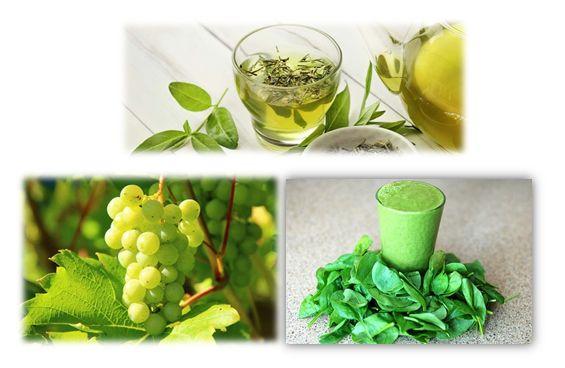 Een groene thee smoothie met druiven en spinazie  Een groene thee smoothie is een heerlijke verfrissend drankje tijdens een zomerse dag. Kijk hier voor het recept