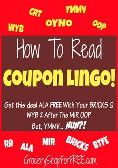 How To Read Coupon Lingo