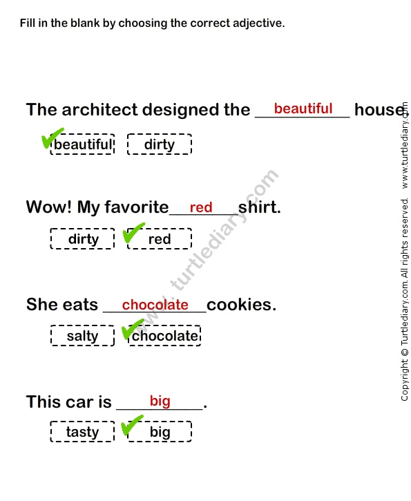Worksheets Grade 1 Adjectives Worksheets 17 best images about adjectives worksheets on pinterest words describing worksheet29 esl efl grade 1 adjectives