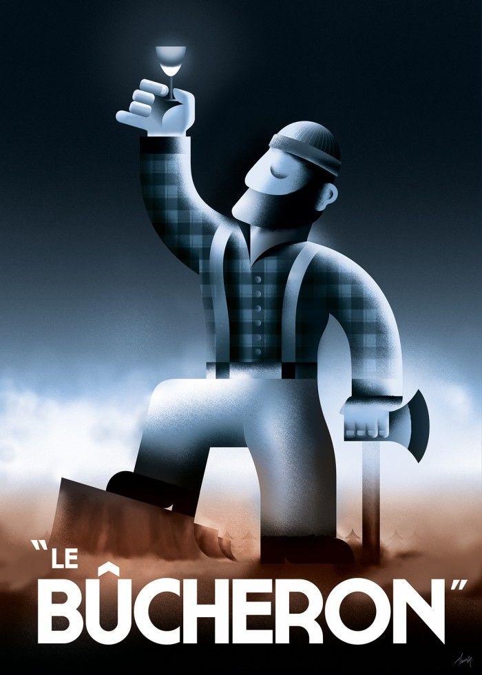 """Le Bûcheron"" poster © Thomas Amby Johansen / Thomas Amby Design, 2013"