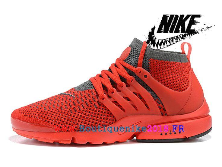Chaussures de Sports Nike Pas Cher Pour Homme Nike Air Presto Ultra Flyknit Rouge 835570_ID1-1803090278-Nike Boutique de Chaussure Baskets Site Officiel boutiquenike2018.fr